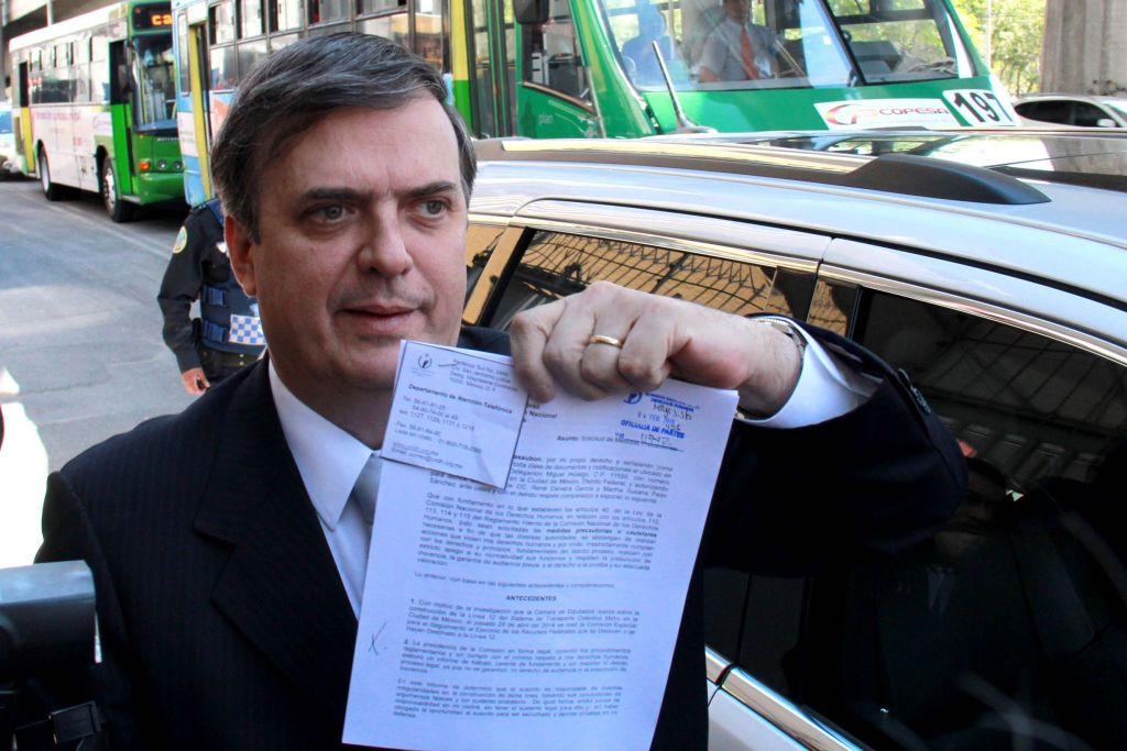 Marcelo Ebrard se ampara ante posible arresto