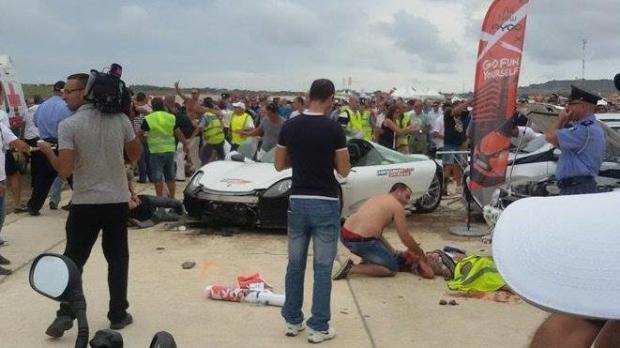 Accidente en exhibición automovilística deja 26 heridos - Foto de Malta Times