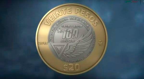 Lanzan moneda conmemorativa por Centenario de Fuerza Aérea Mexicana - Moneda conmemorativa - Foto de Banxico