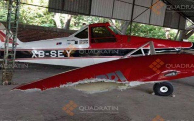 Se desploma aeronave en Apatzingán - Foto de Quadratín