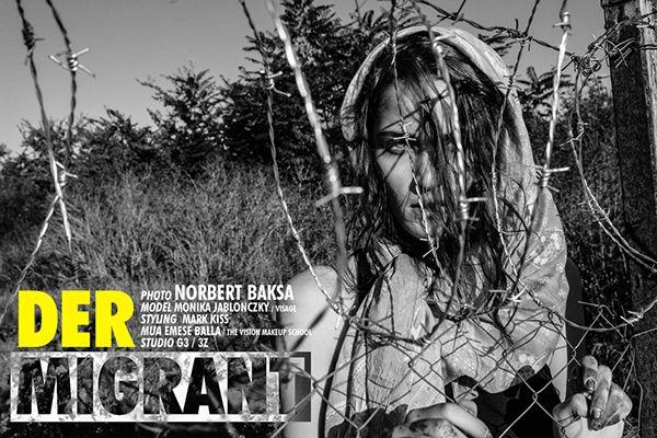 Fotógrafo de moda viste a modelo como refugiada siria - Foto de norbertbaksa.prosite.com