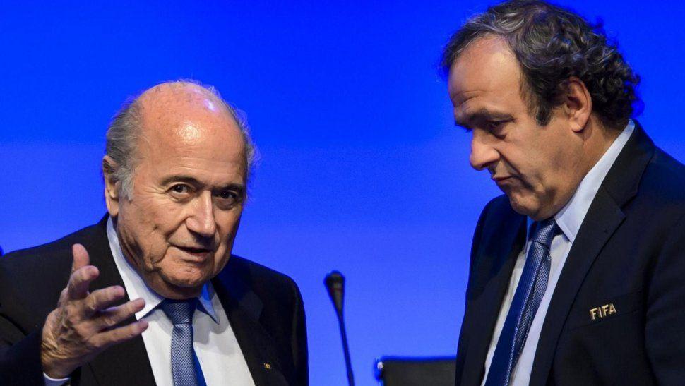 Joseph Blatter y Michel Blatini. Foto de ABC