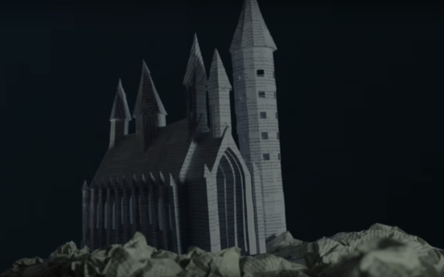 Crean castillo de Harry Potter en papel - Foto de YouTube