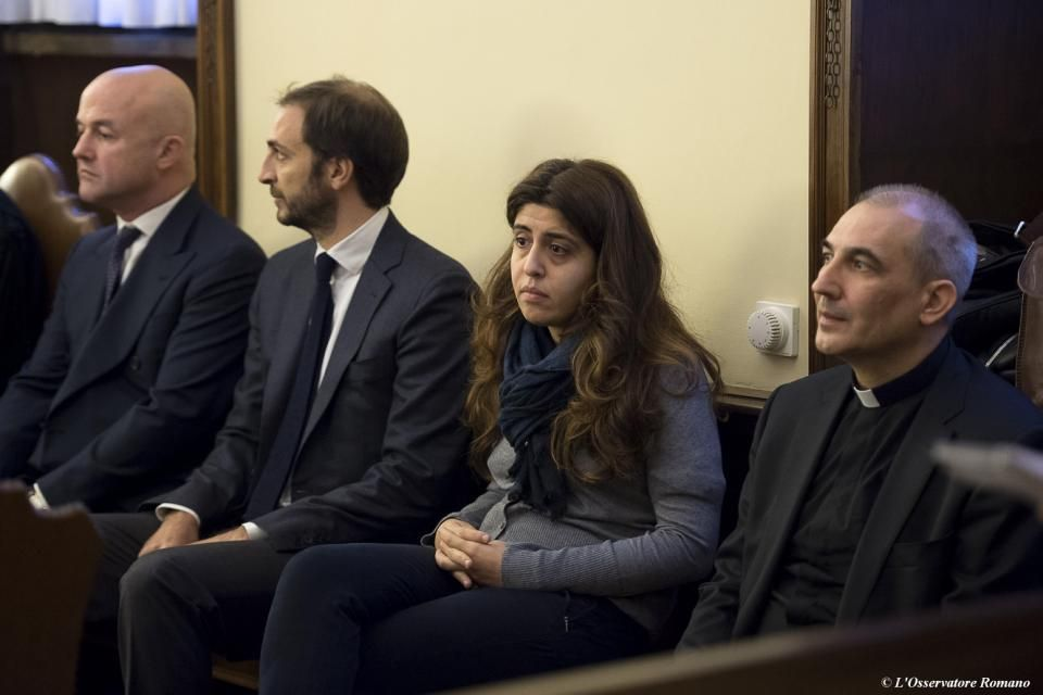 Gianluigi Nuzzi, Emiliano Fittipaldi, Francesca Chaouqui y Monsignor Angelo Lucio Vallejo Balda