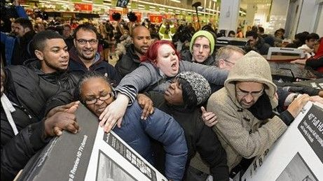 Video: la euforia en el Black Friday