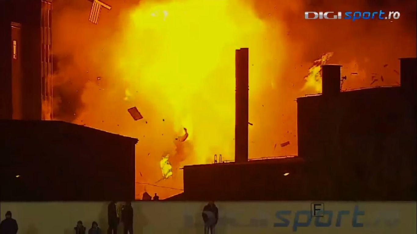 Momento de la explosión. Foto de Digisport.ro