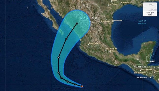 Tormenta tropical Sandra evolucionaría a huracán - Foto: internet