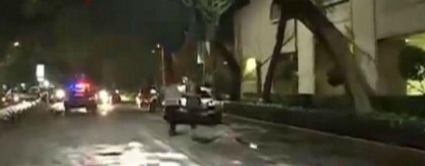 Caída de árbol en Polanco afecta el tráfico - Foto de Foro TV
