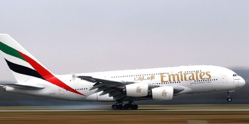 Emirates Airlines. Foto de Archivo