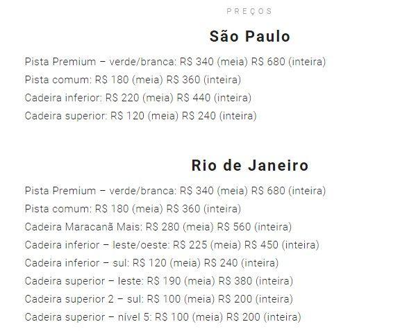 brasil precios