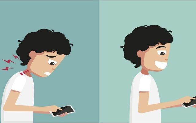Dispositivos móviles dañan cuello de jóvenes