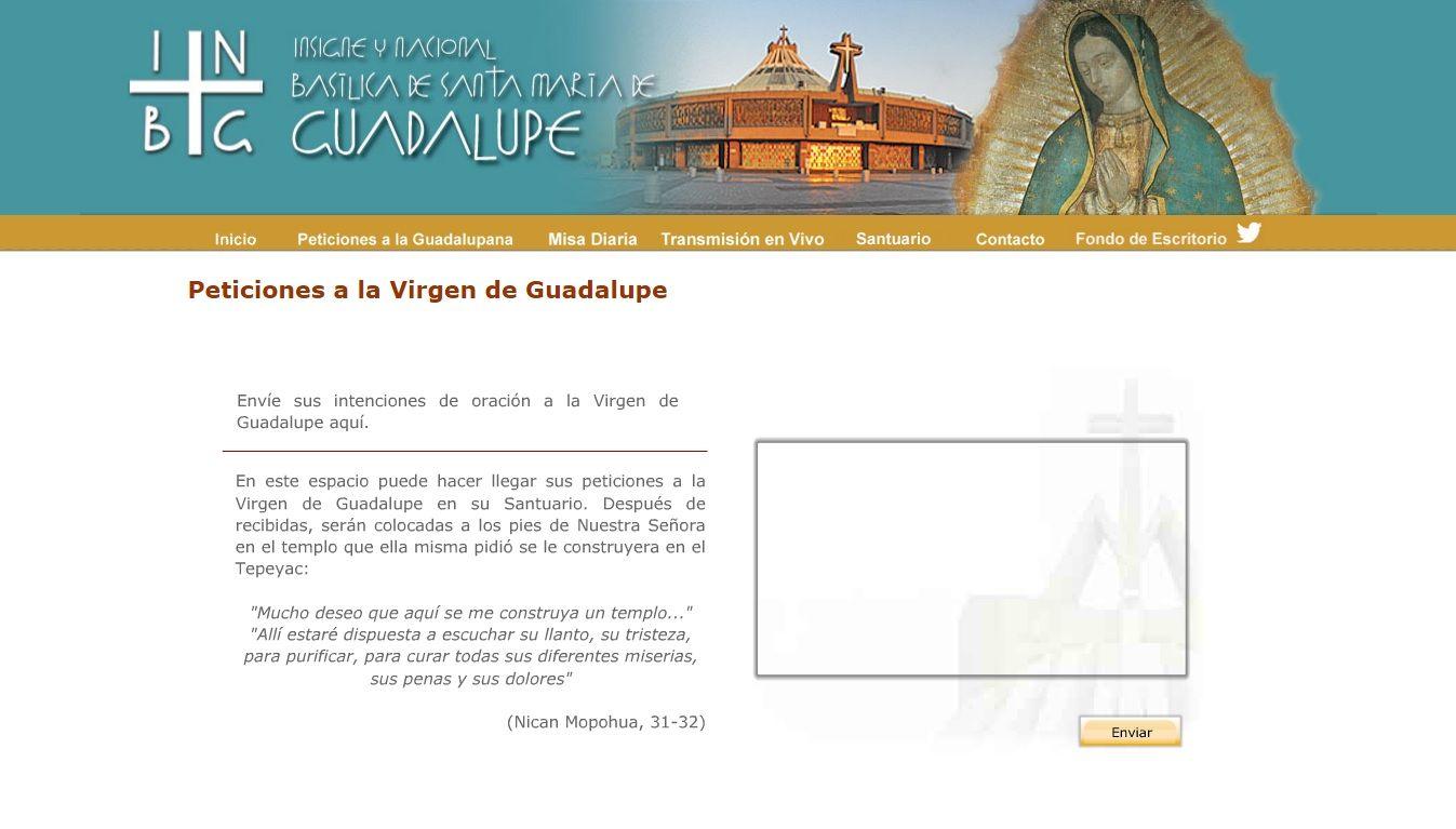El buzón de peticiones por internet de la Virgen de Guadalupe