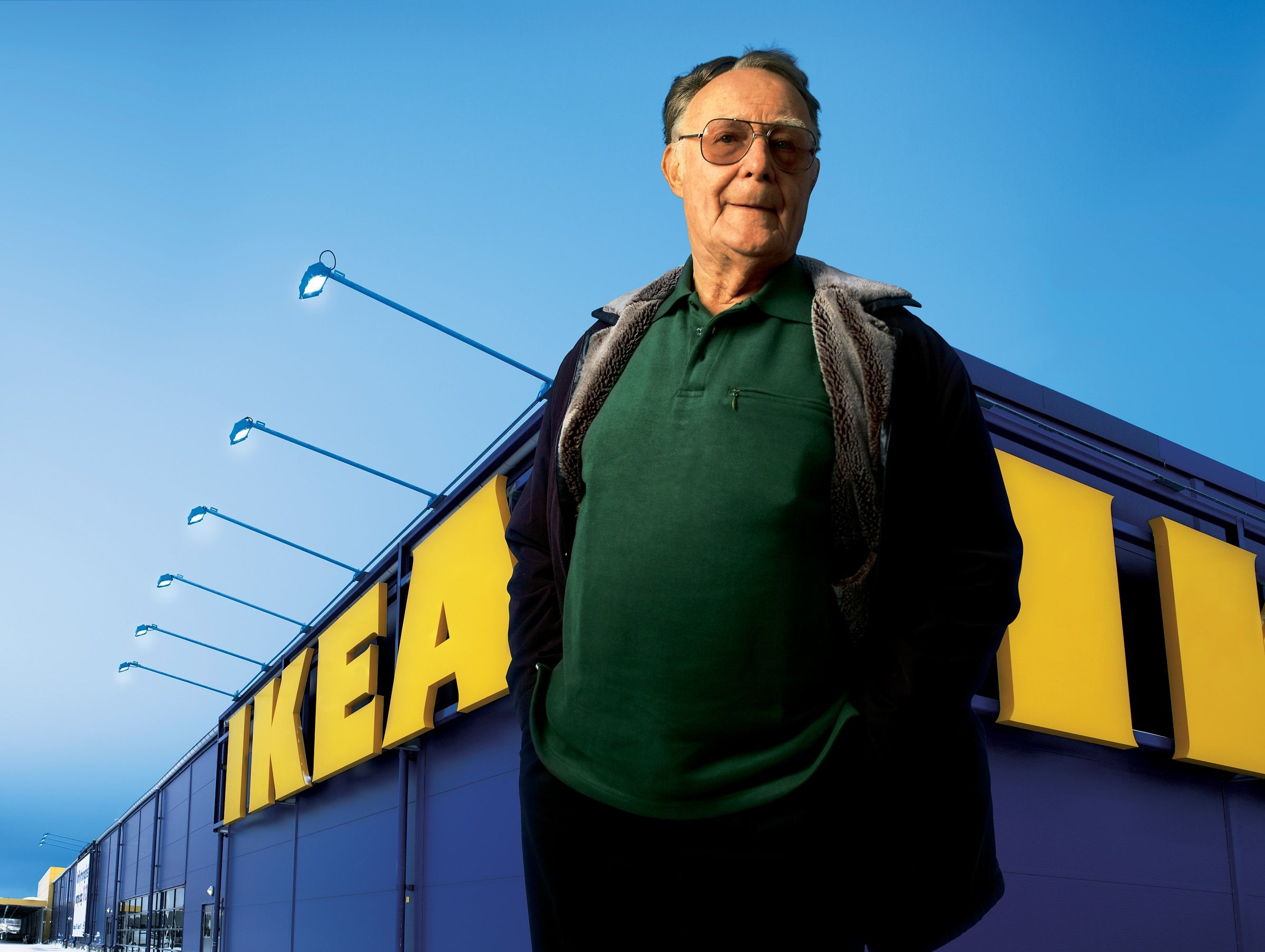 El dueño de Ikea suele ser un hombre de vestimenta sencilla. Foto de Ikea.