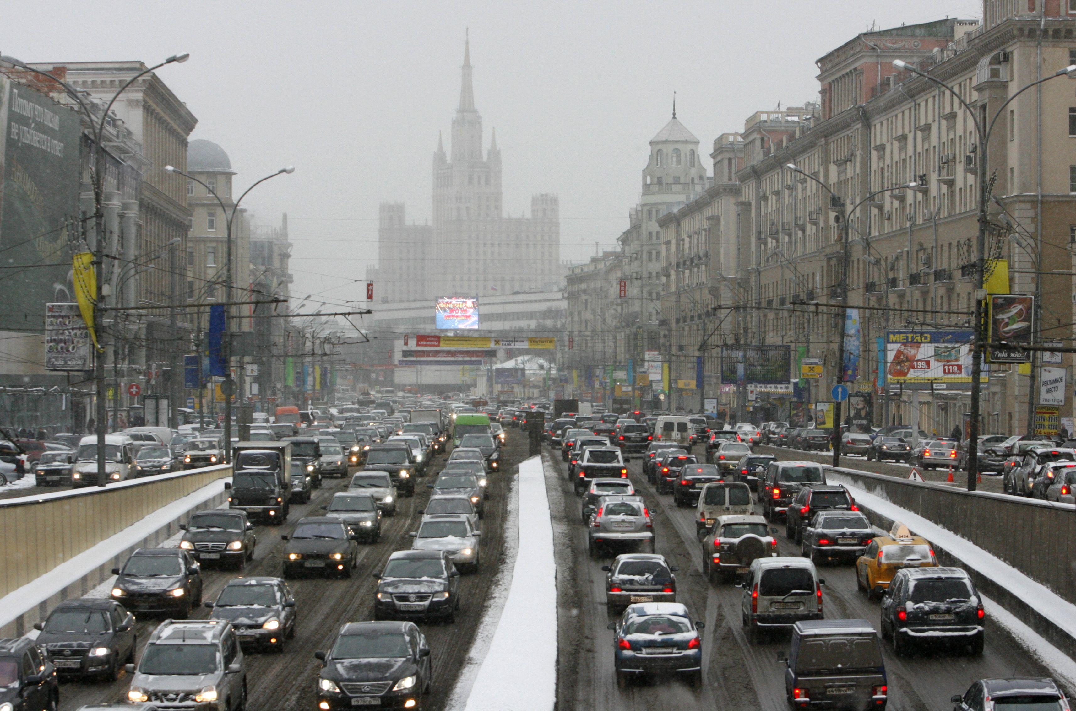 Tráfico en Moscú. Foto de Reuters/Sergei Karpukhin