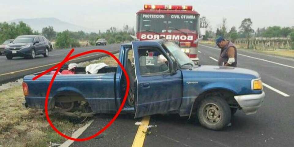 Volcadura en la México-Tulancingo deja un muerto y al menos ocho heridos - Foto de @MrElDiablo8