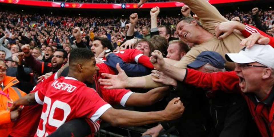 Manchester United a la final de la FA Cup con gol de último minuto - Foto de Internet