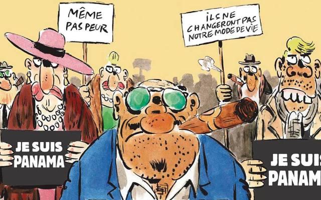 Charlie Hebdo dedica portada al escándalo de Panamá Papers - Foto de Clases de Periodismo