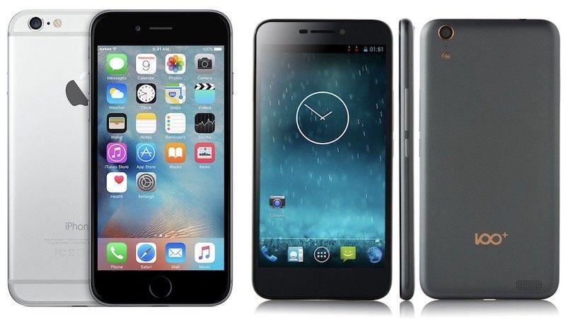El fabricante chino denuncia que Apple se robó el diseño de su smartphone 100C. Imagen de Internet