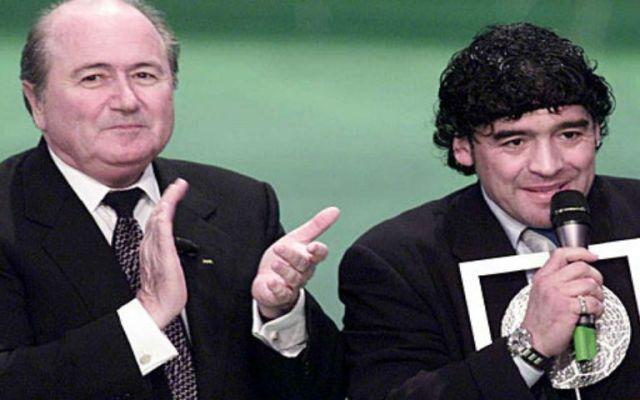 """Grondona enseñó a Blatter a robar"": Maradona - Foto de internet"