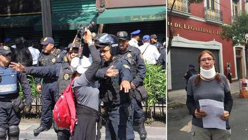Policías de la SSP agreden a fotógrafa de La Jornada - Foto de La Jornada