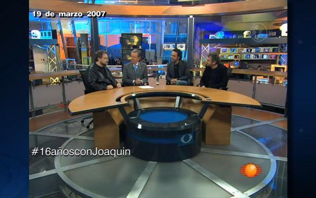 #16añosconJoaquin entrevista a Cuarón, Iñárritu y del Toro