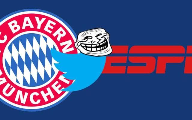 El Bayern Munich 'trollea' a la cadena ESPN