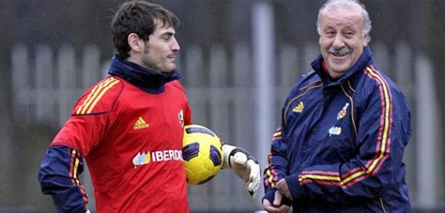 Casillas y Del Bosque hacen las paces - Foto de Internet