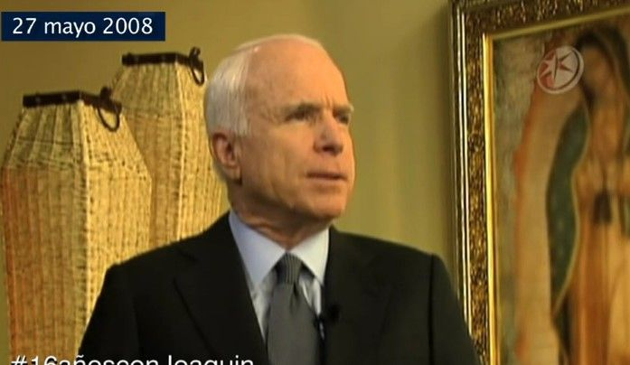 #16añosconJoaquin entrevista a John McCain