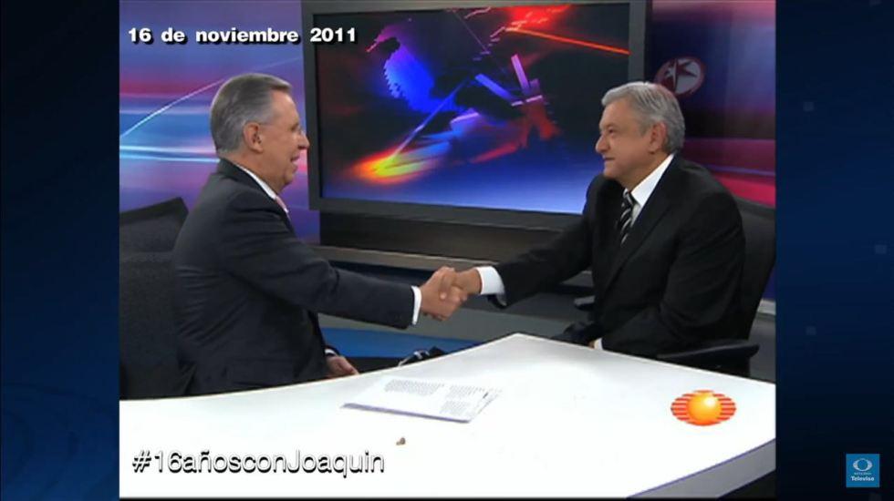 #16añosconJoaquin Entrevista a Andrés Manuel López Obrador