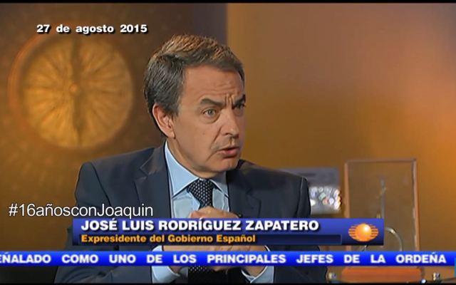 #16añosconJoaquin Entrevista a José Luis Rodríguez Zapatero