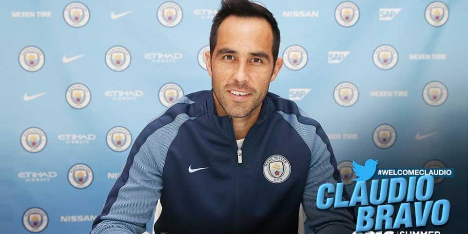 Claudio Bravo firma con el Manchester City - Foto de @ManCity