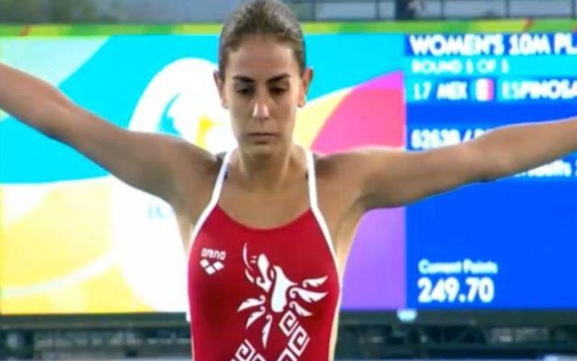 Paola Espinosa a semifinales de plataforma 10 metros - Foto de Conade