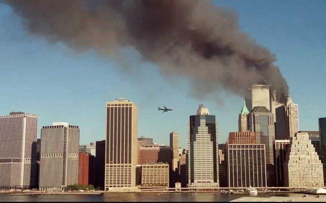 El ataque del 11 de septiembre visto desde el espacio