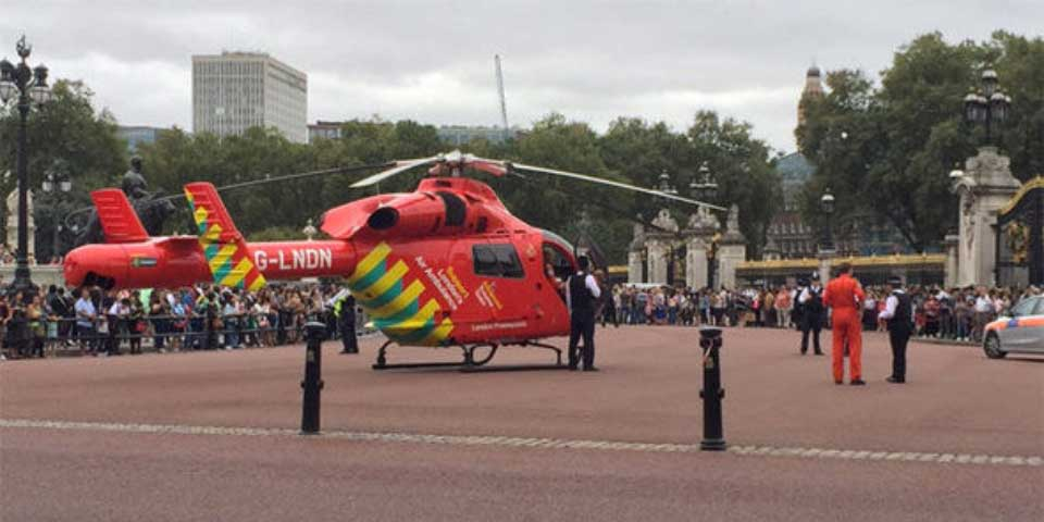 Video: ambulancia helicóptero en Palacio de Buckingham provoca preocupación - Foto de Twitter