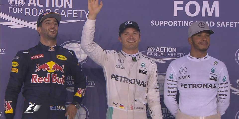 Rosberg se queda con la pole del Gran Premio de Singapur - Foto de F1