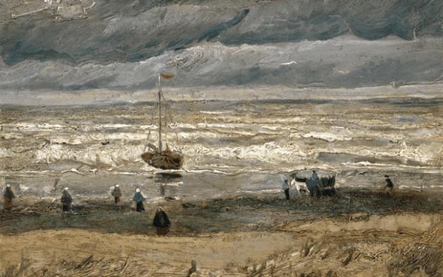 Recuperan dos cuadros de Van Gogh robados en 2002 - La playa de Scheveningen de 1882