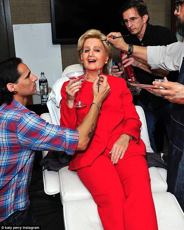 Katy Perry Orlando Bloom Hillary Clinton Donald Trump 13