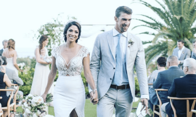 Michael Phelps comparte fotos de su boda en playa mexicana