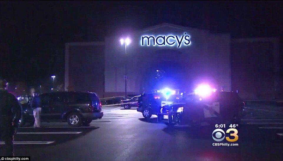 El asesinato a las afueras de Macy's en Nueva Jersey. Foto de
