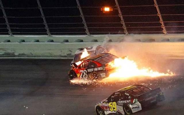 Video: piloto de NASCAR sufre aparatoso accidente - Foto de Getty