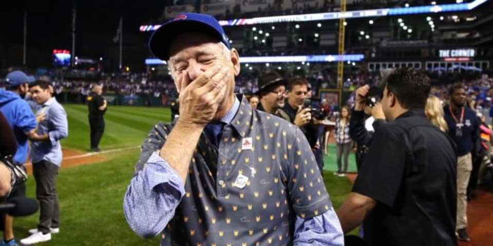Video: la reacción de Bill Murray tras la victoria de los Cachorros - Foto de Internet