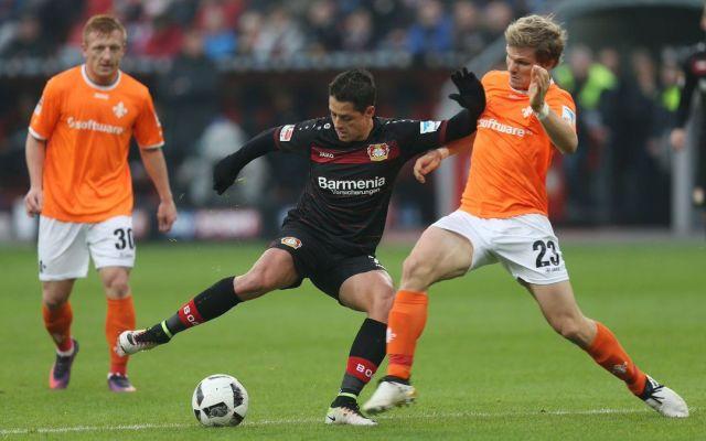 'Chicharito' titular en triunfo del Leverkusen ante el Darmstadt