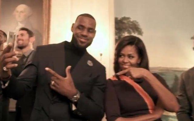 Video: 'Mannequin Challenge' de los Cavs con Michelle Obama