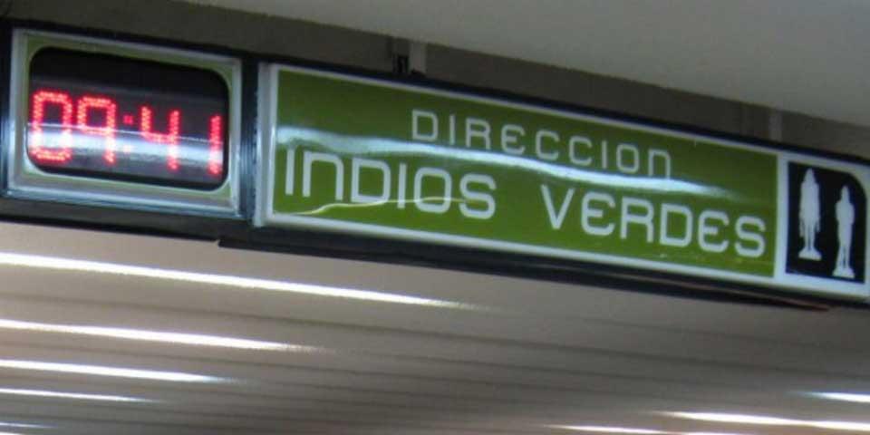 Muere mujer al caer a vías del metro Indios Verdes - Foto de Internet