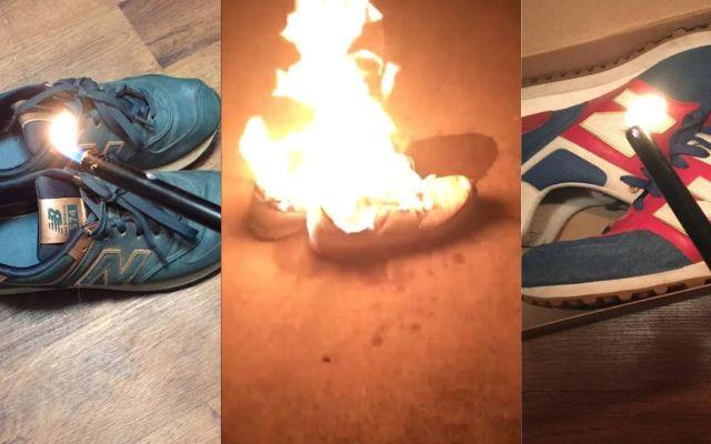 Reebok regala tenis nuevos a usuarios que quemaron sus New Balance - Foto de Internet