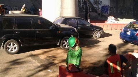 Zanja afecta circulación vial en la autopista México-Cuernavaca - Foto de Milenio