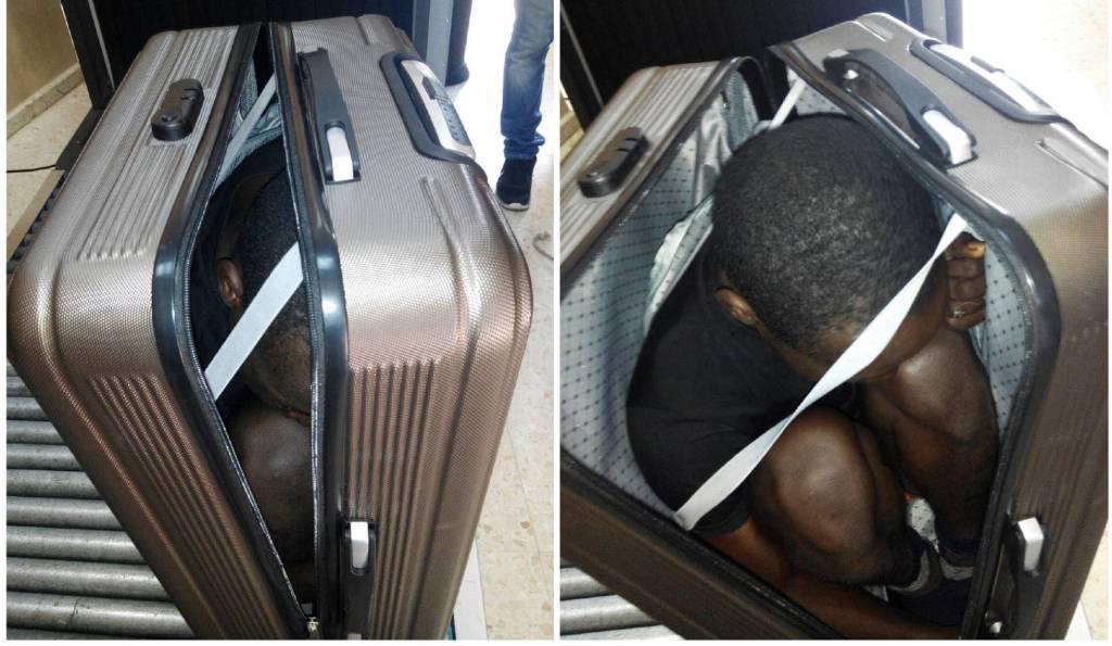 Detienen a mujer que llevaba a inmigrante en la maleta