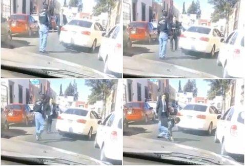 Video: hombre dispara a taxista tras discutir en Durango
