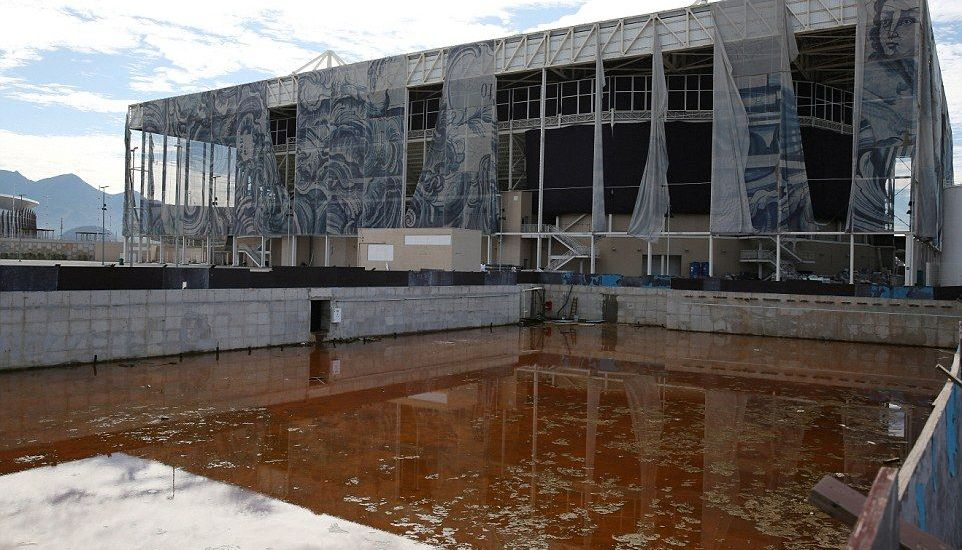 Estadios olímpicos de Brasil en ruinas