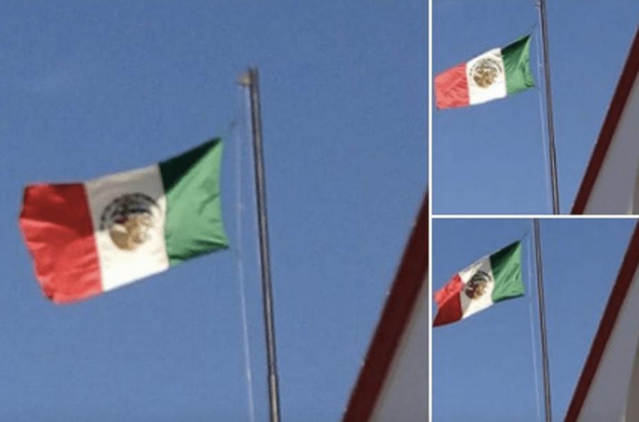 Izan Bandera De México Al Revés En Yucatán
